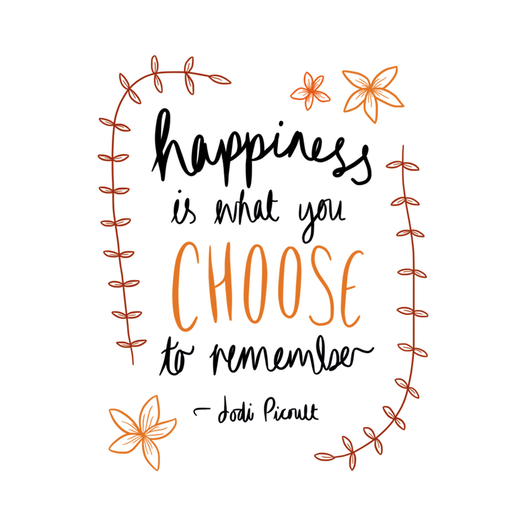 Happiness Quote Poster