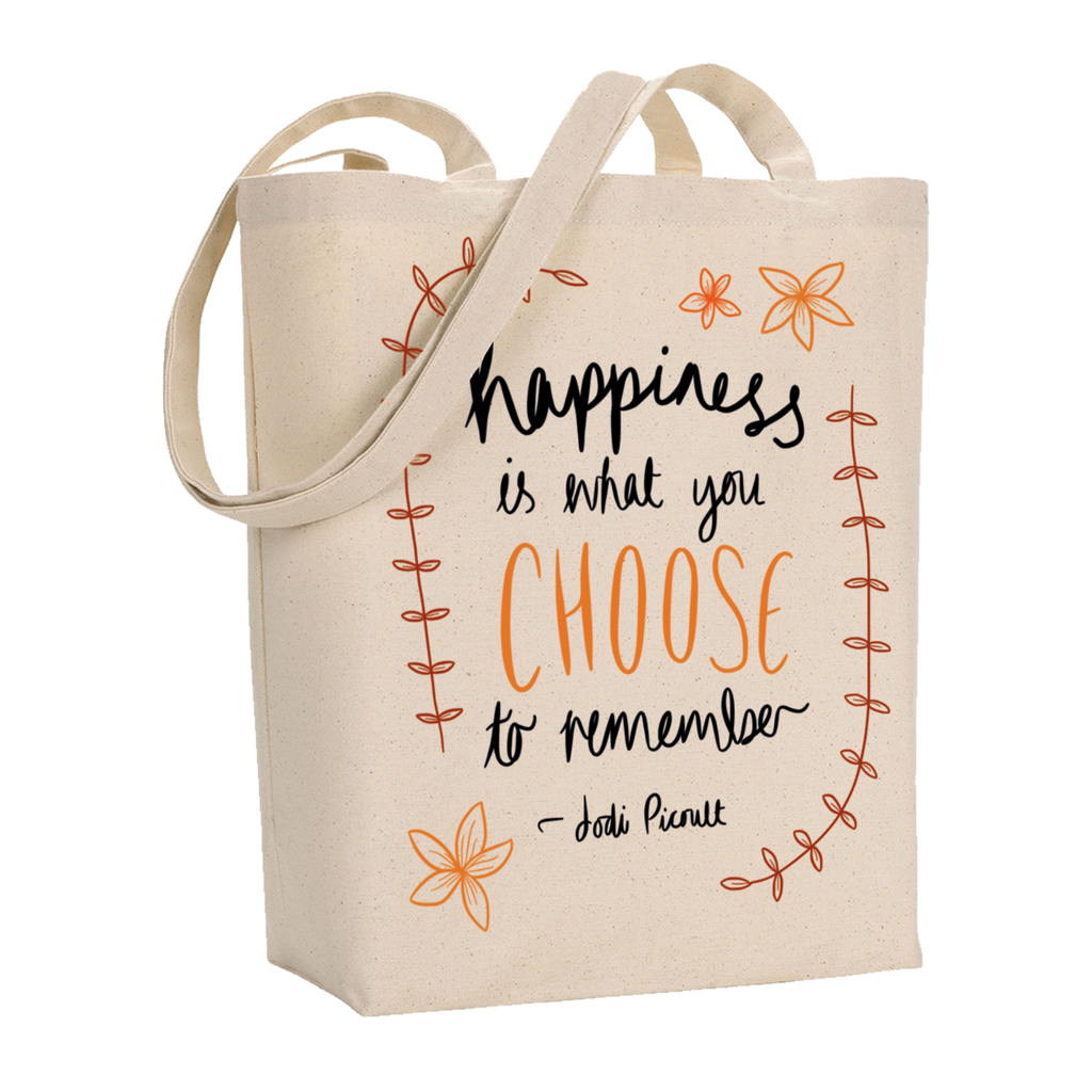 Happiness Quote Tote