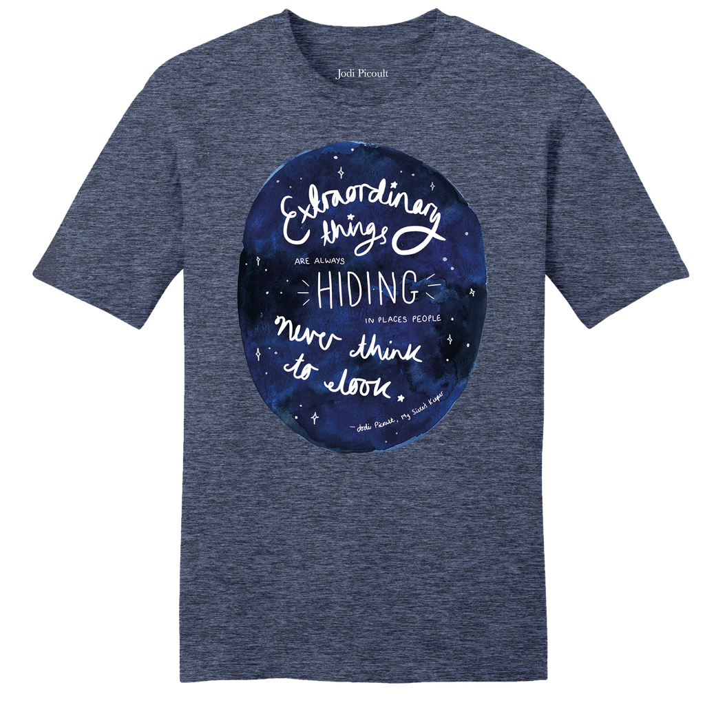 Extraordinary Quote Heathered Navy T-shirt