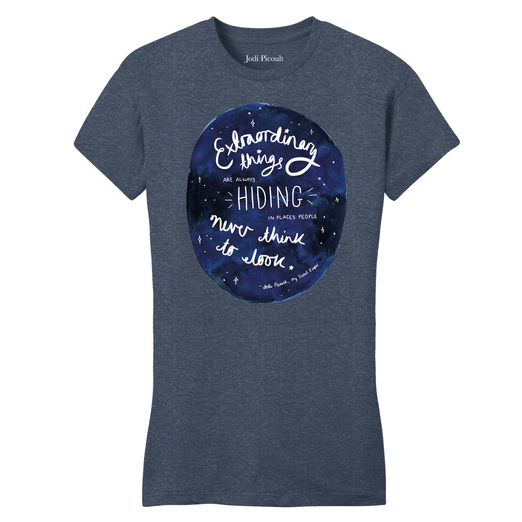 Extraordinary Quote Heathered Navy Women's T-shirt