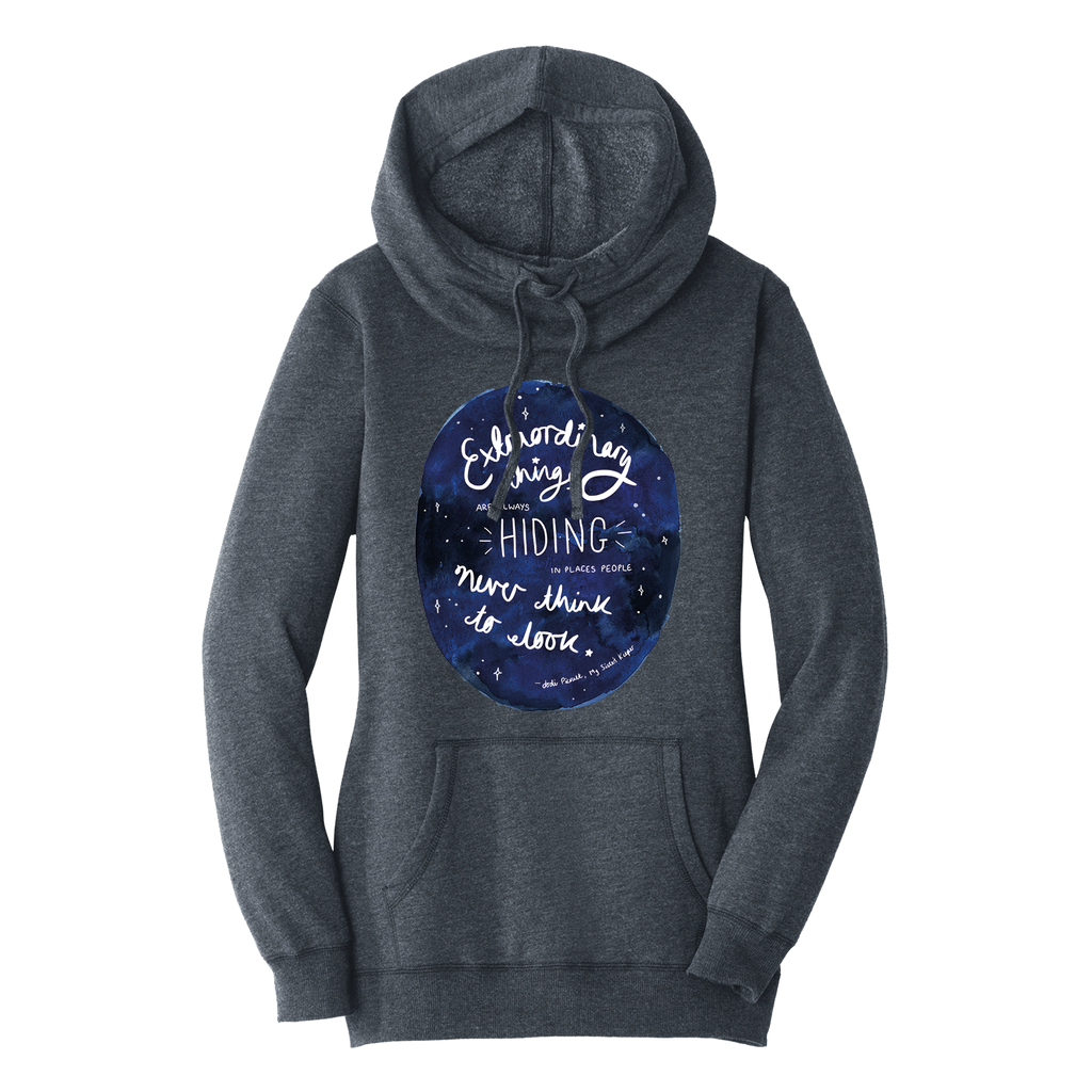 Extraordinary Quote Heathered Grey Hoodie