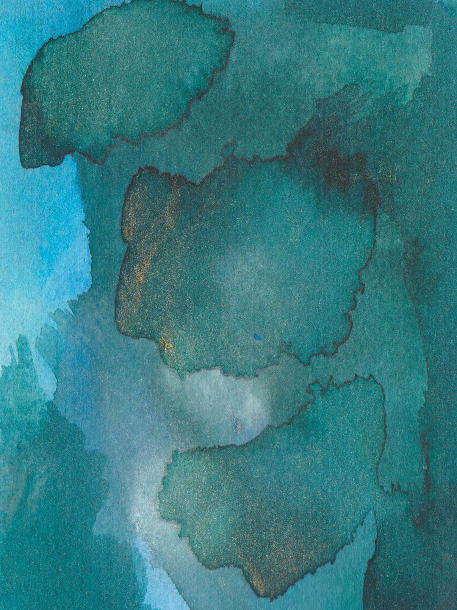 Emerald Green Modern Abstract,  Green Watercolor Home Decor