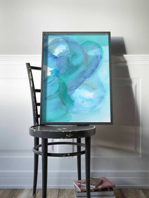 Blue and Green Ocean Wall Art. - AdriLunaStudio