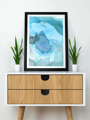 Blue Wall Art. Colorful Sea Home Decor. - AdriLunaStudio