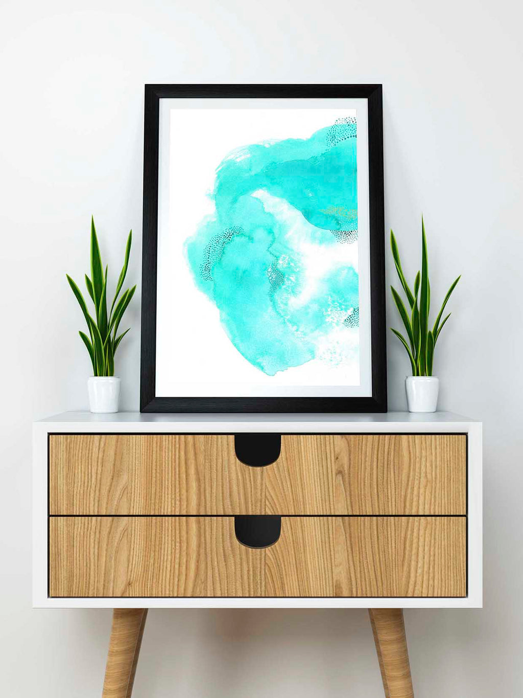 Beautiful Green Watercolor Home Decor. - AdriLunaStudio