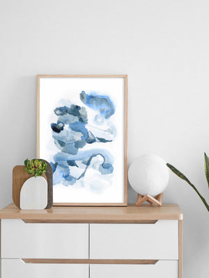 Extra Large Blue Abstract Wall Art
