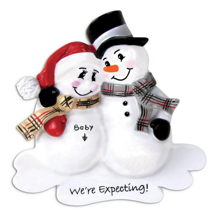 Cute We're Expecting Christmas Ornament - Santa'Ville