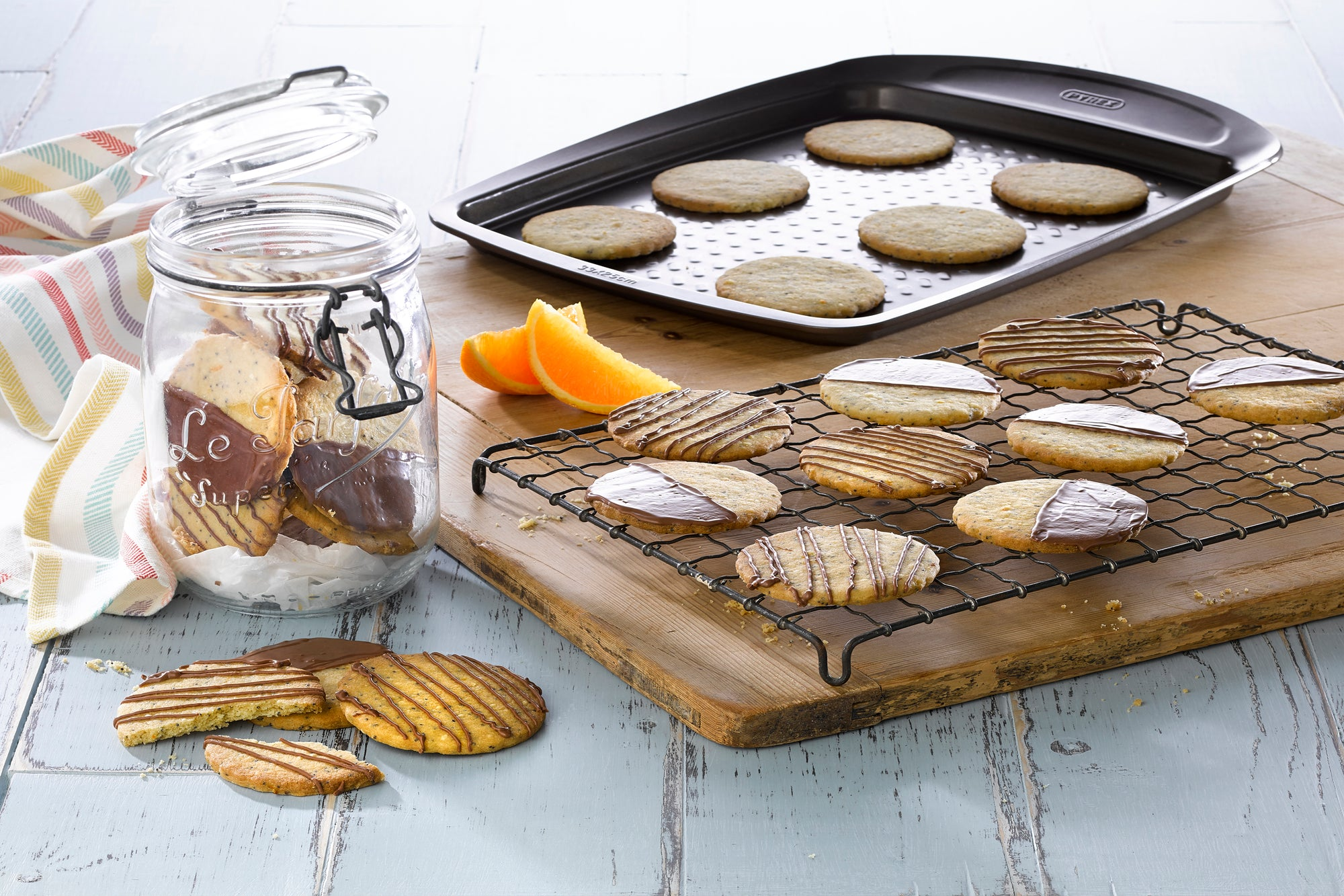 Zesty Orange, Seed and Milk Chocolate Biscuits