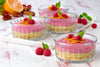 Orange & Raspberry Raw Cheesecakes