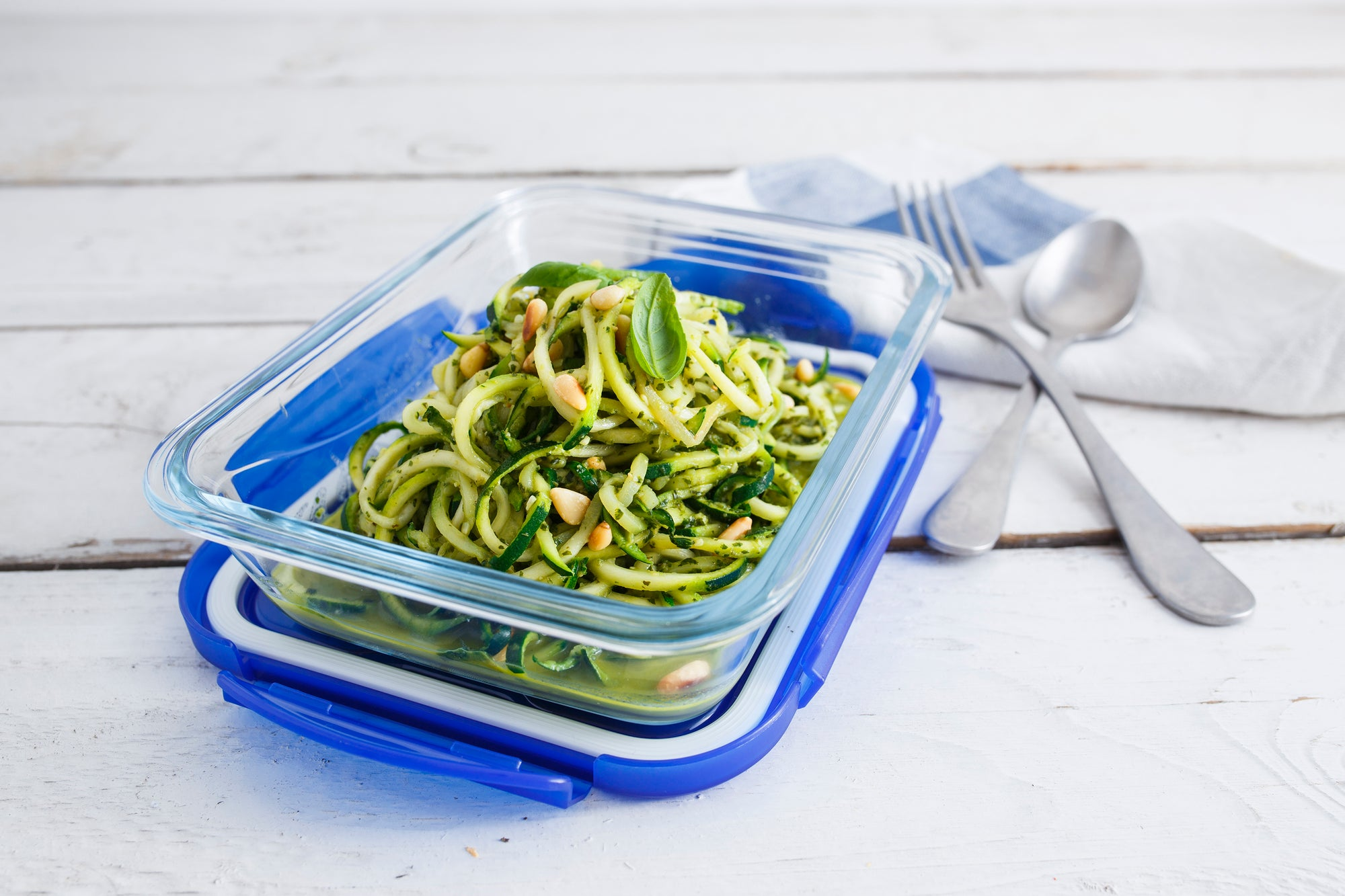 Courgetti with Basil Lime Pesto