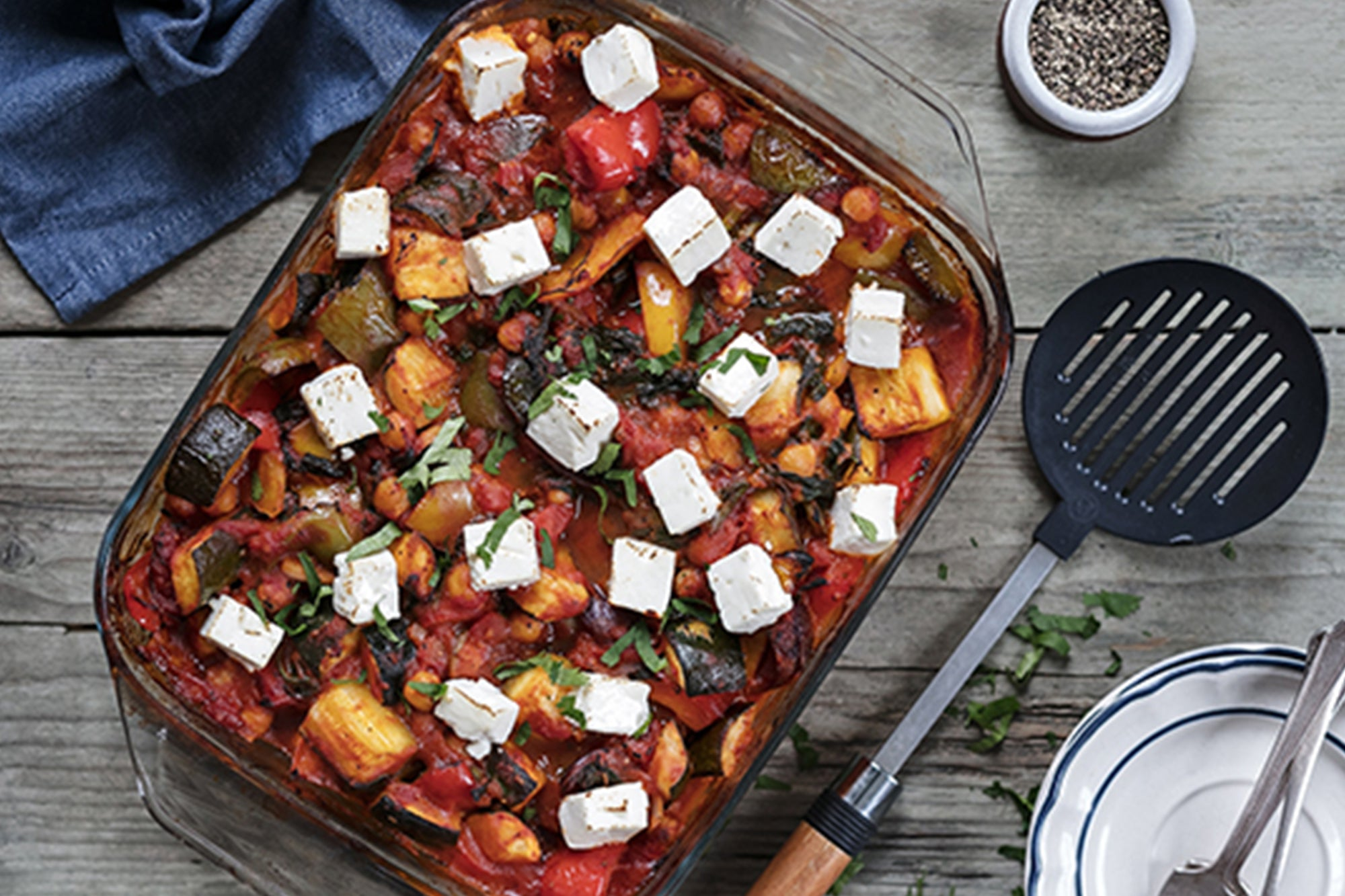 Greek-Style Roasted Vegetable Bake