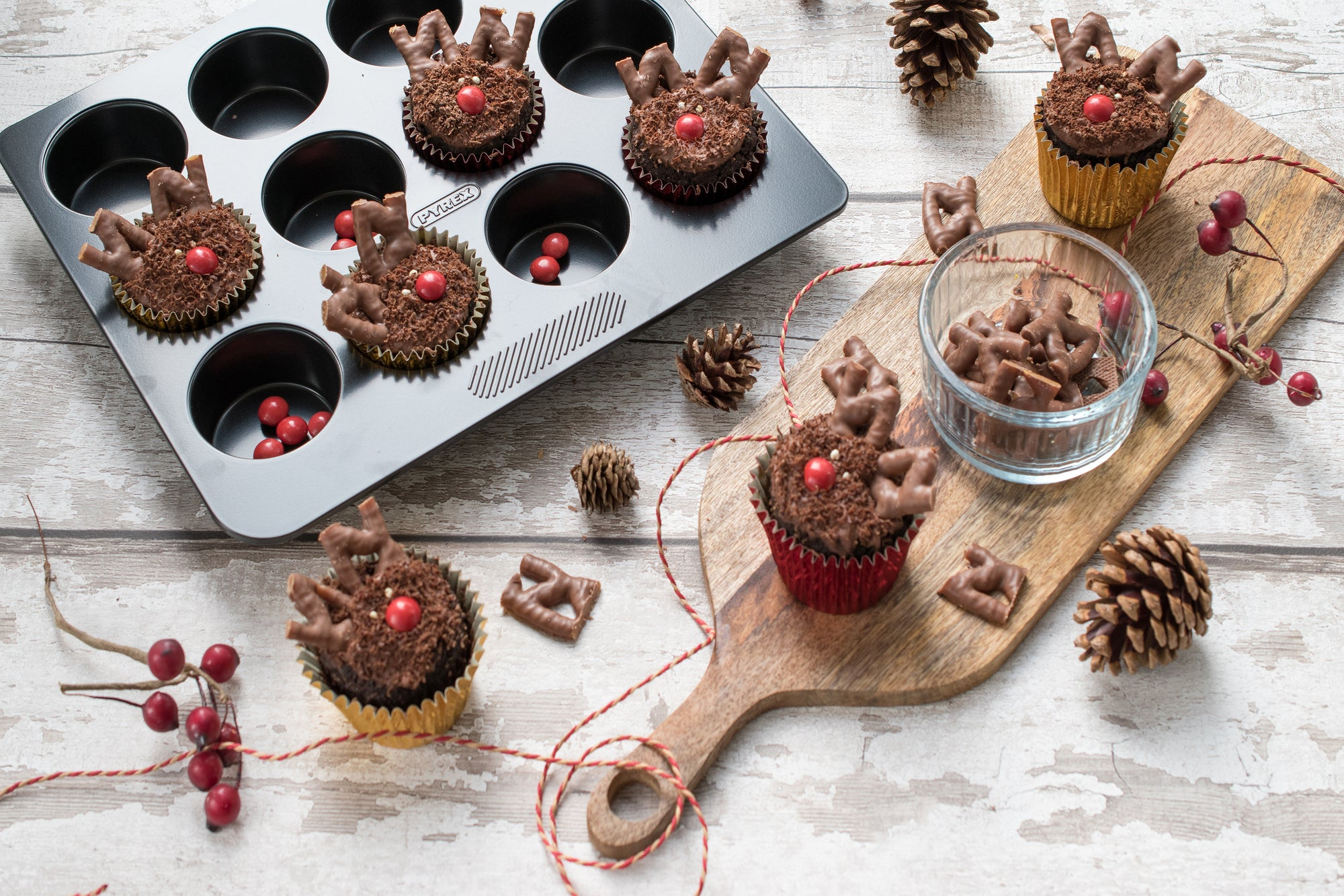 Christmas Muffins - Rudolph