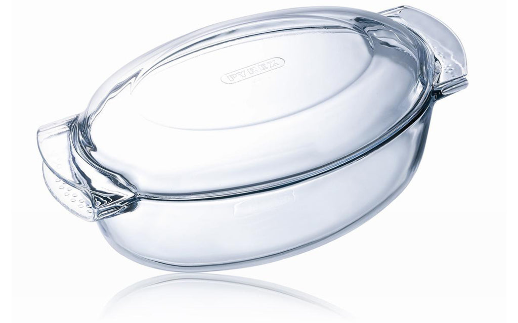 Classic Easy Grip Glass oval Casserole High resistance