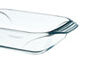 Irresistible Glass Rectangular Roaster High resistance Easy grip