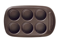 asimetriA Metal Easy-grip 6 Cups muffin tray