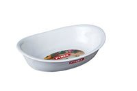 Supreme Pure white oval roaster - Ceramic