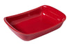 Supreme Cherry red Rectangular roaster - Ceramic