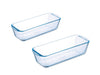 Bake & Enjoy Set of 2 Glass Loaf dishes High resistance