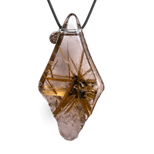 Rutilated Quartz Raw Pendant