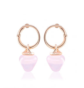 Rose Quartz AromaJewel Spiral Earrings