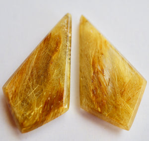 Bahia Gold Gem Cut Pair