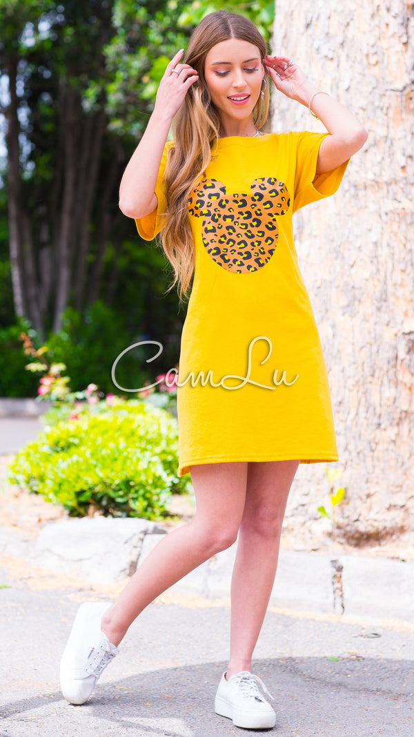 EXCLUSIVO CAMLU MOUSE PRINT AMARILLO