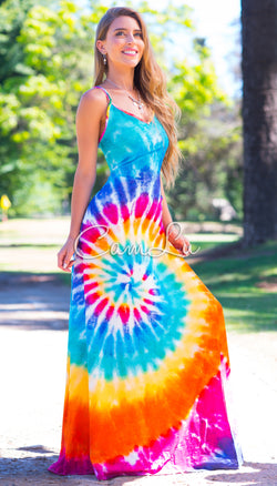 EXCLUSIVO MAXI VESTIDO TIE DYE MULTICOLOR