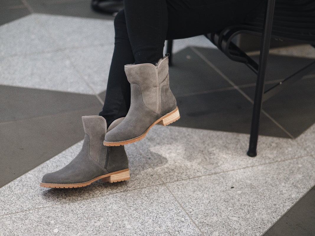 CHLOE BOOT - SUEDE LINED WITH SHEEPSKIN - YE & CO