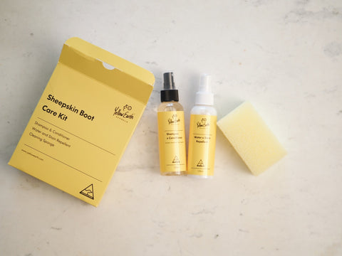 Photo of the Yellow Earth Sheepskin Boot Care Kit
