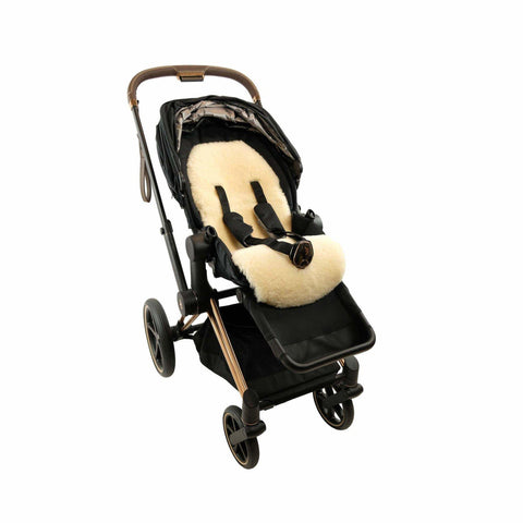 Photo of our stroller lambskin liner product - Yellow Earth Australia