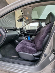Sheepskin Car Seat Cover fitted on a vehicle