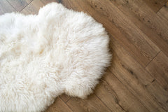 Ivory Long Wool Sheepskin Rug