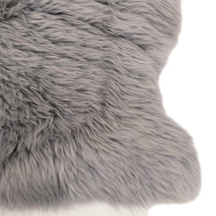 Cloudy Grey Long Wool Sheepskin Rug