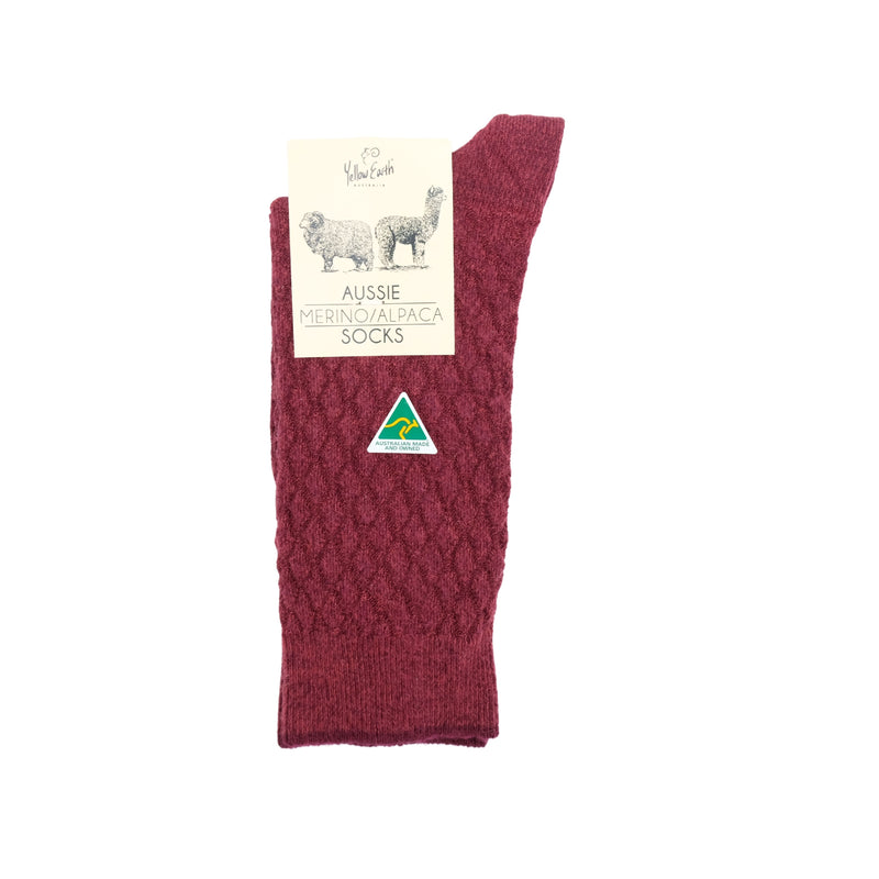 Australian Merino & Alpaca Wool Blend Women's Socks