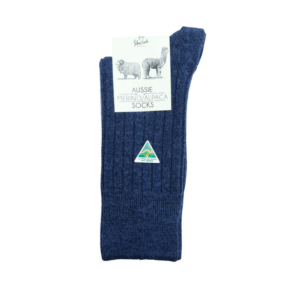 Australian Merino & Alpaca Wool Blend Men's Socks