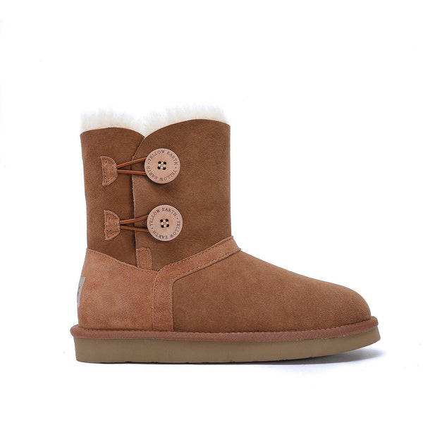 Harper - Classic 2 Button Ugg Boot-Footwear-Yellow Earth Australia-CHESTNUT-5-Yellow Earth Australia