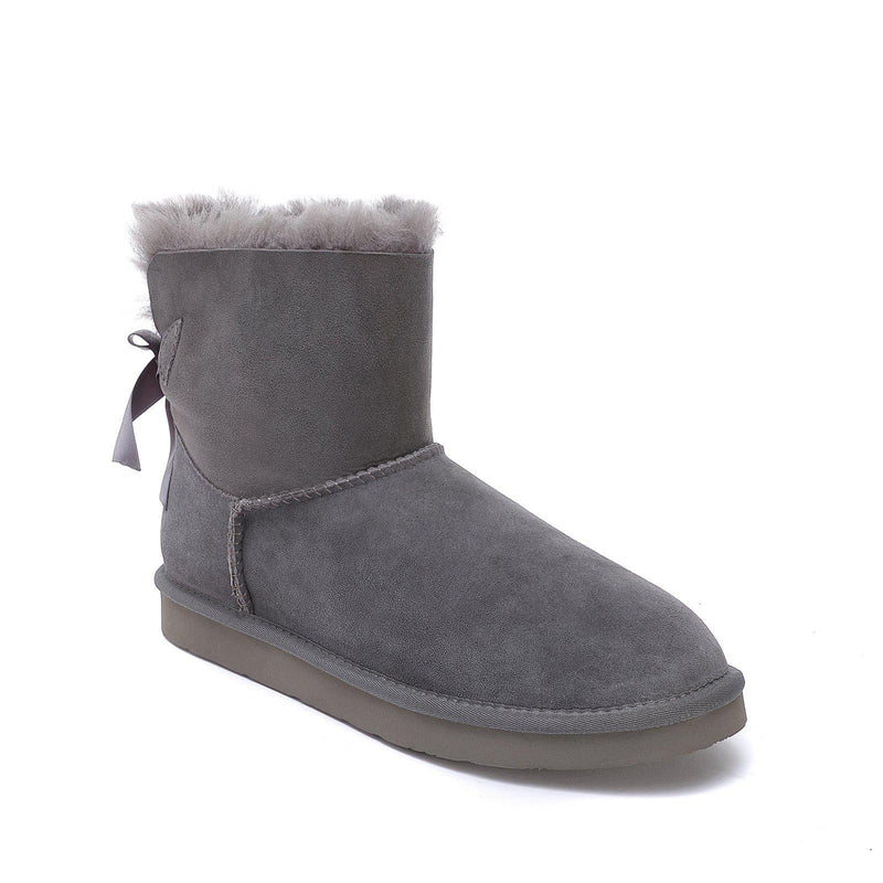 Brianna - Bow Tie Ugg Boot - Premium Australian Merino Sheepskin-Footwear-Y.E. & CO-Yellow Earth Australia