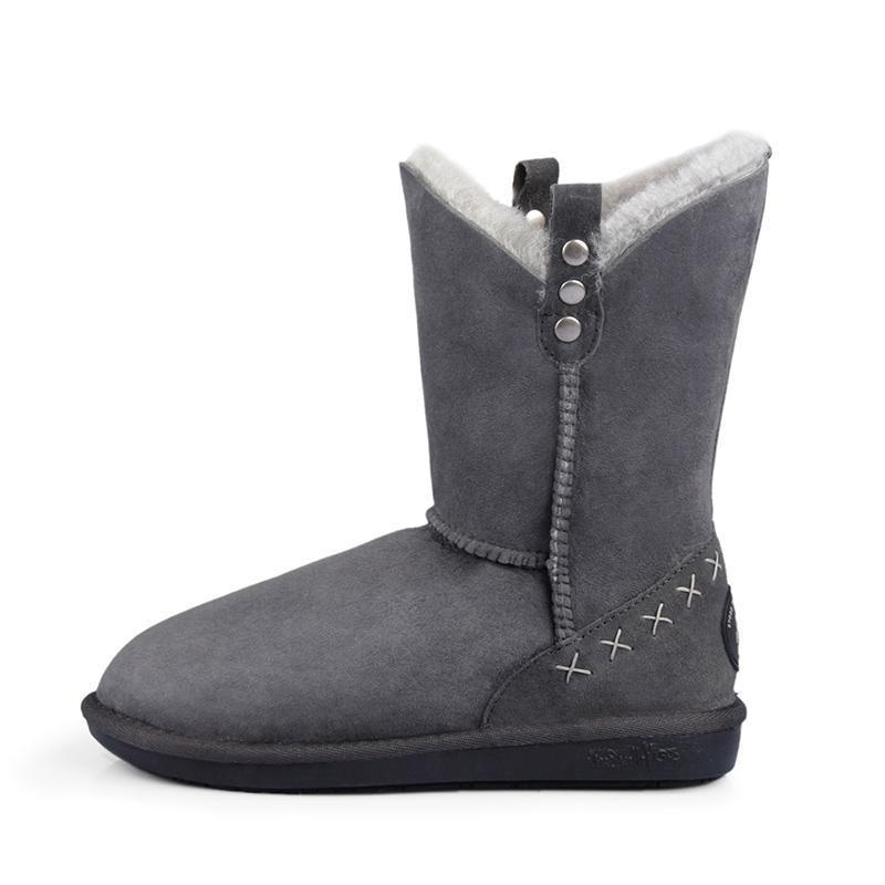 GRACE MID - GUNMETAL GREY / 35 - Footwear Yellow Earth Australia 3/4 boot low boot sheepskin UGG