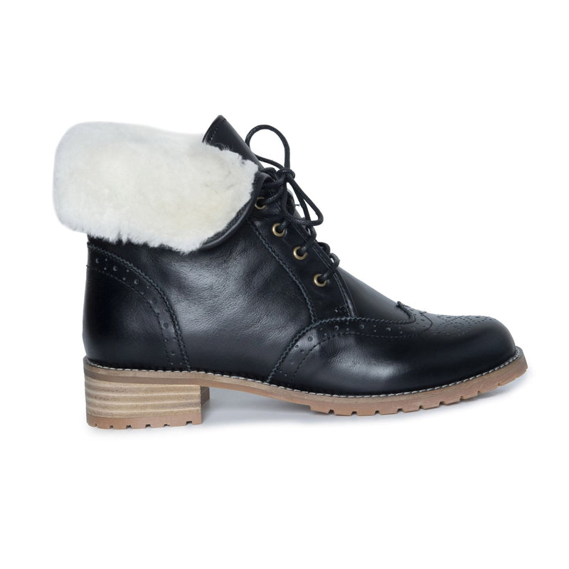 Alice - Footwear Yellow Earth Australia Alice Heritage Lace Up Leather Boots Sheepskin