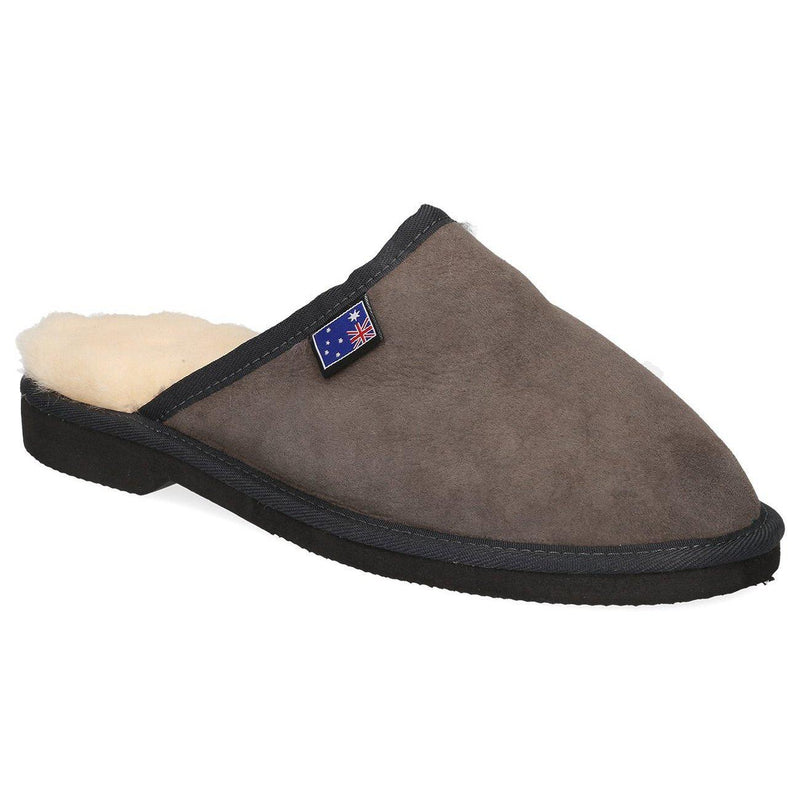 Men's Scuff EVA Slippers - CHARCOAL / 3 - Footwear Yellow Earth Australia