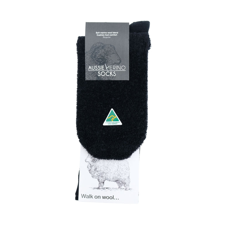 Australian Merino Fine Wool Cushion Men's Socks