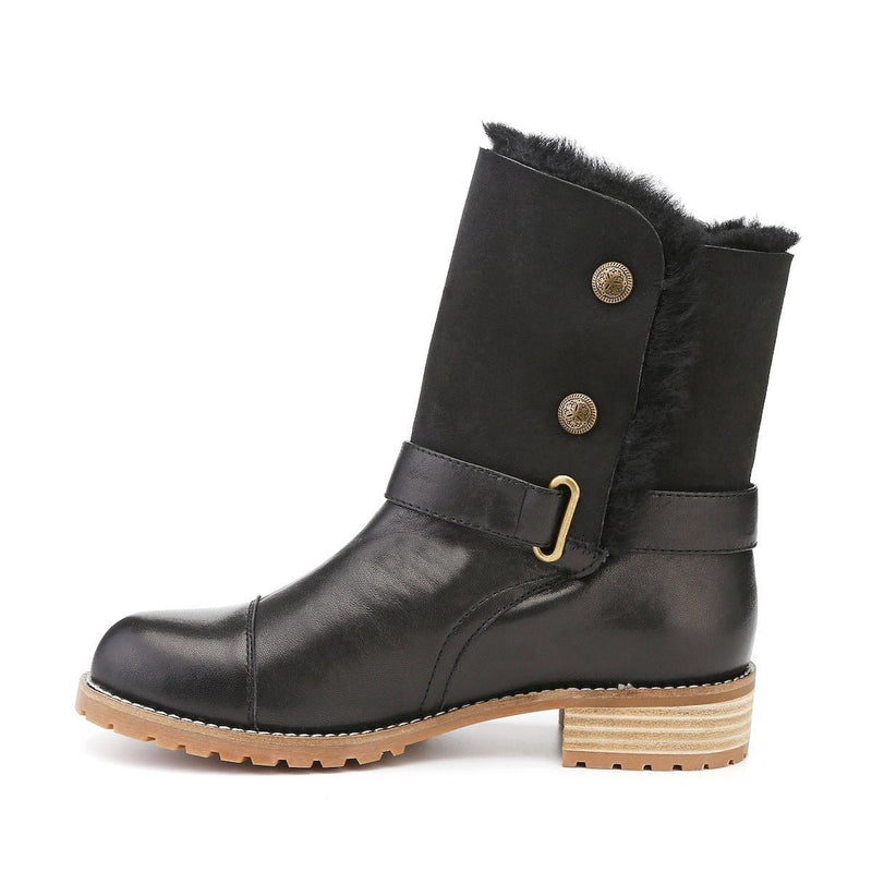 Yuri - Footwear Yellow Earth Australia Boots Button Leather Boots New Arrival Sheepskin