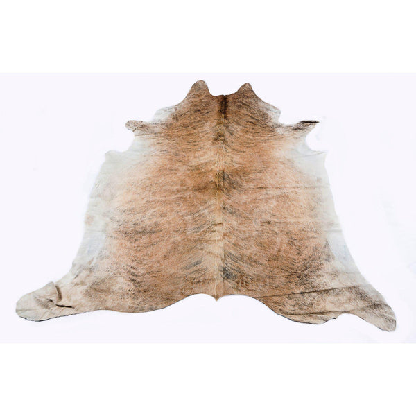 Medium Brindle - Tan Coloured Large Premium Cowhide Rug - Skin Yellow Earth Australia cow hide, indoor, rug