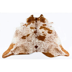 Speckled Brown Spotted - Brown & White Coloured Large Premium Cowhide Rug - Skin Yellow Earth Australia cow hide, indoor, rug