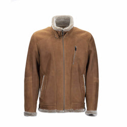 MENS MITCHAM JACKET - BROWN / 50 - Apparel Yellow Earth Australia coat jacket Leather shearling
