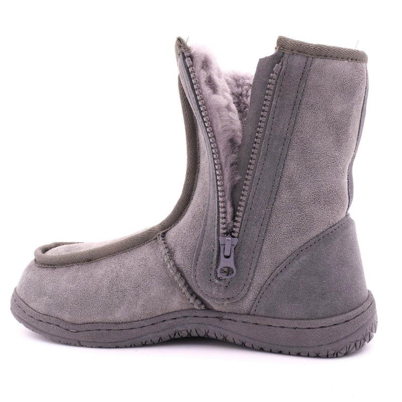 BULLER (SIDE ZIP BOOT) - GREY / M9/W10 - Footwear Black Sheep Australia black sheep eldery healthcare medical