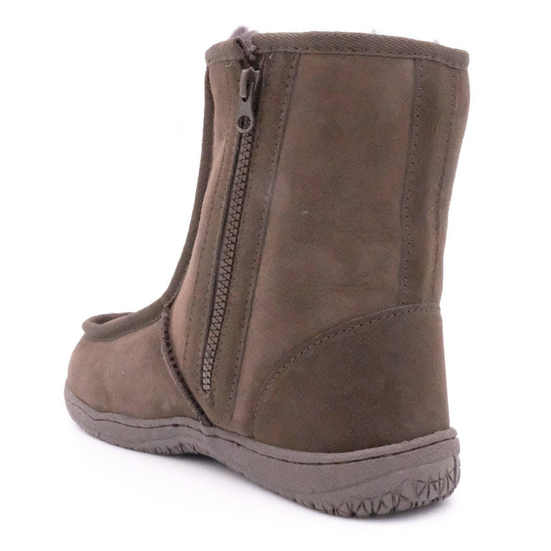 BULLER (SIDE ZIP BOOT) - BROWN / M9/W10 - Footwear Black Sheep Australia black sheep eldery healthcare medical