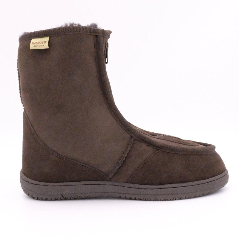 CLAYTON (FRONT ZIP BOOT) - Footwear Black Sheep Australia black sheep eldery healthcare medical