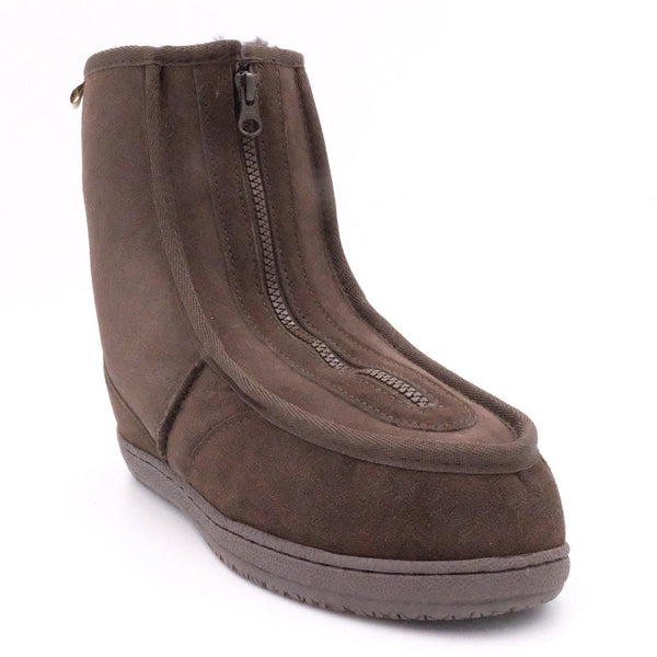CLAYTON (FRONT ZIP BOOT) - BROWN / M9/W10 - Footwear Black Sheep Australia black sheep eldery healthcare medical