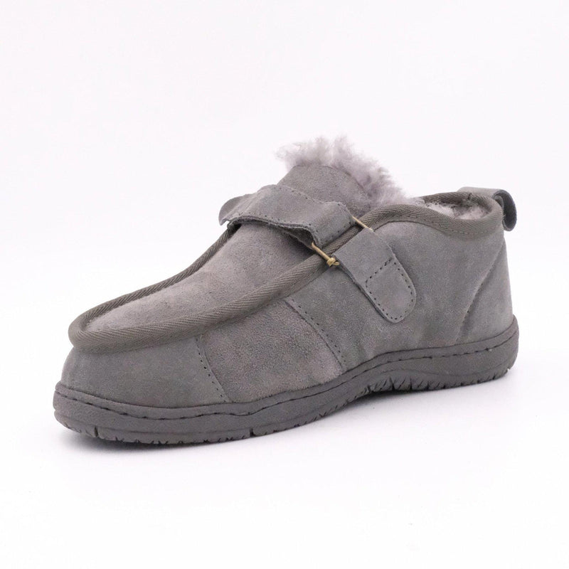 FLEECE EASY (VELCRO STRAP) - Footwear Black Sheep Australia black sheep eldery healthcare medical non slip